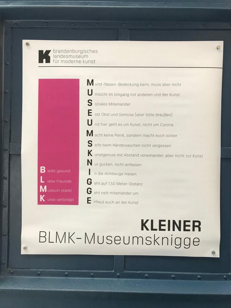 Kleiner Museumsknigge des BLMK